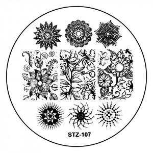 Matrita Metalica Stampila Unghii STZ-107 - Nature