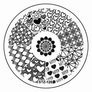 Matrita Metalica Stampila Unghii STZ-126 - Love Story