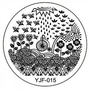 Matrita Metalica Stampila Unghii YJF-015 - Nature