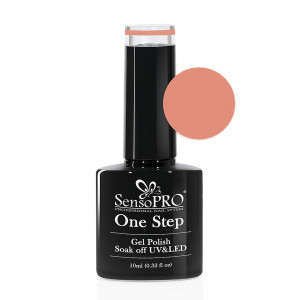 Oja Semipermanenta SensoPRO One Step 10ml culoare Nude - 004 Beach Peach
