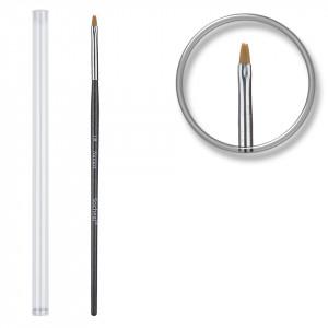 Pensula unghii aplicare gel UV nr.1 cu etui tubular - Zafre Black