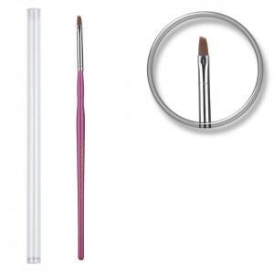 Pensula unghii aplicare gel UV nr.3 cu etui tubular - Orchid