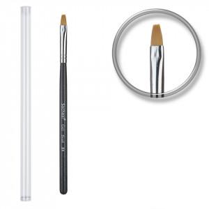 Pensula unghii aplicare gel UV nr.8 cu etui tubular - Black Sky