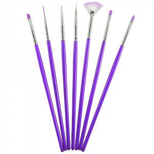 Set 7 Pensule Manichiura Unghii False - Purple Radius