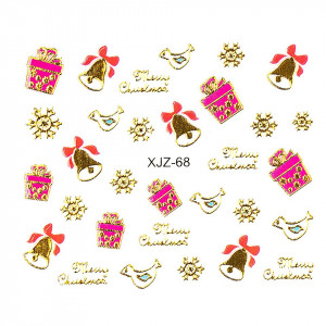 Sticker 3D Unghii LUXORISE XJZ-68, Christmas Collection