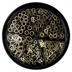 Strasuri Unghii LUXORISE, Delicate Gold - 6 modele