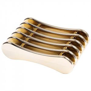 Suport pensule unghii 5 sloturi Stylish Gold