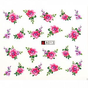 Tatuaj unghii A013 flori