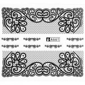 Tatuaj unghii A661 lace