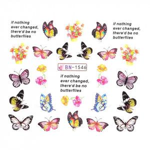 Tatuaj unghii LUXORISE, Butterfly BN-1546