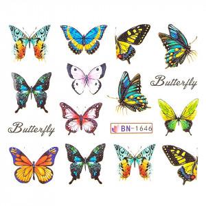 Tatuaj unghii LUXORISE, Butterfly BN-1646