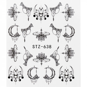 Tatuaj unghii STZ-638 abstract