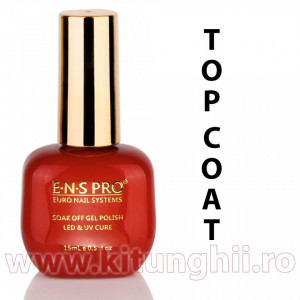 Top Coat Oja Semipermanenta ENS PRO Germania 15ml - Gel de Finish pentru Oja Semipermanenta