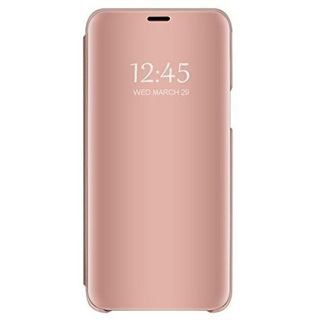 Розов калъф Book Cover Clear View Rose за Samsung Galaxy S8 PLUS