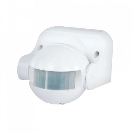 Senzor de miscare cu infrarosu , unghi detectare 180 grade , raza actiune 12 metri , alb