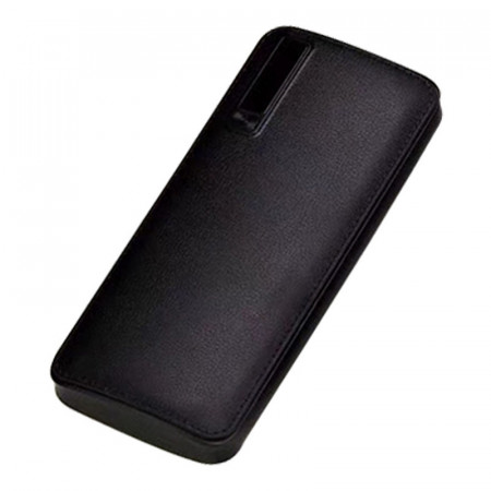 Професионална външна батерия, 30000mAh, бързо зареждане, Powerbank черна еко кожа - PB-3000
