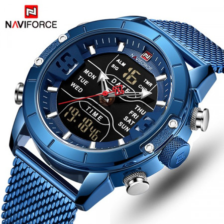 Ceas Barbatesc Dual-Time Multifunctional Naviforce NF9153-V1