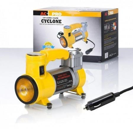 Автомобилен компресор за големи превозни средства, Cyclone, 12 V, 27 L / Min, 150 PSI, жълт