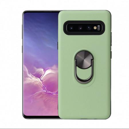 Samsung Galaxy S10 - Husa Verde Din Policarbonat Premium cu Inel Rotativ