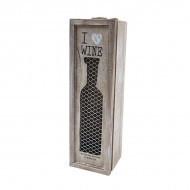 Винтидж дървена кутия за бутилка CV006