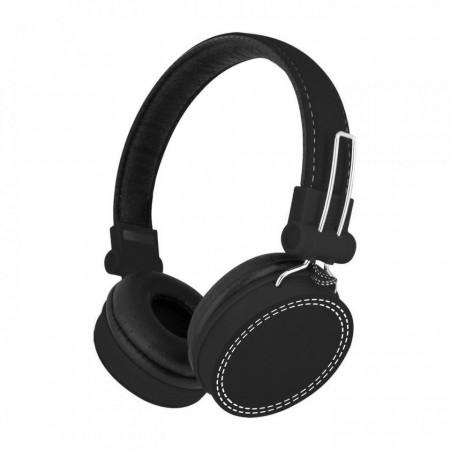 Casti audio SaatchiTech cu fir Jack Detasabil, Microfon incorporat, Culoare Neagra