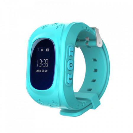 Умен часовник за деца Q50 cu - телефон, GPS Проследяване, Педометър SOS – Син