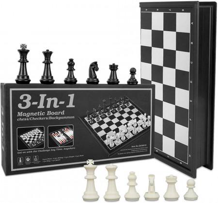 Toy, Шах и табла 3 в едно, магнитна дъска, 24смm