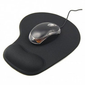 Подложка за мишка с ергономична гел поставка за китка23 x 19 см, черен цвят