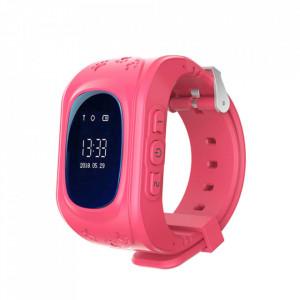 Умен часовник за деца Q50 cu - телефон, GPS Проследяване, Педометър SOS – Розов