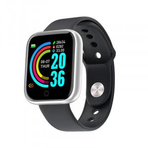 Умна гривна Y68, Fitness Tracker, Bluetooth, Silver