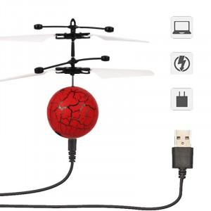 Aeronava - Minge Zburatoare - Magic Ball, Terra Connect, Rosu, Led Multicolor, cu Acumulator