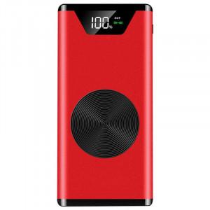 Baterie externa cu capacitate 10000 mAh wireless QI , ACU-002 ROSU