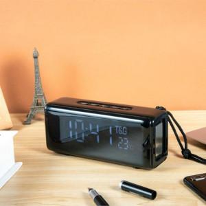 Boxa Portabila TG-174 cu Afisaj Digital,Ceas, Termometru, Radio, MP3, Bluetooth, USB, TF-Card BLACK