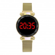 Ceas Dama Fashion Digital Led, Gold Q521-V5