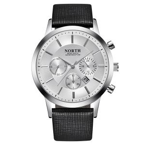 Мъжки часовник  NORTH Бял