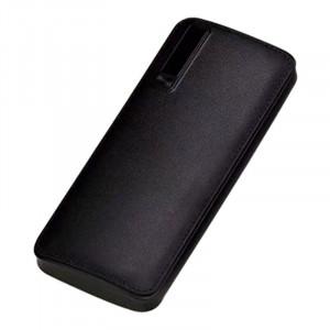 Професионална външна батерия, 20000mAh, бързо зареждане, Powerbank черна еко кожа - PB-2000
