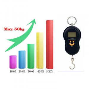 Cantar Electronic Portabil de Mana, Max 50Kg, Ecran LCD, Negru