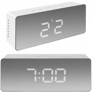Ceas digital oglinda de birou cu alarma, temperatura CLED-002-ALB