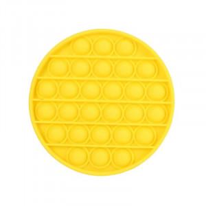 Jucarie Senzoriala Interactiva, Pop It, Bubble, Rotund, Galben, POP-IT YELLOW
