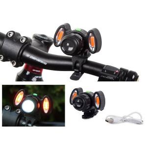 Lanternă cu lumină frontală pentru bicicletă cu 4 moduri, PM59074513050343
