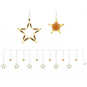 Lumini de poveste, 12 stele perdea 138 LED-uri, Auriu, PM000071143