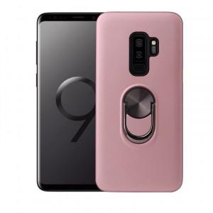 Samsung Galaxy S9 Plus Pink Premium поликарбонатен калъф с въртящ се пръстен