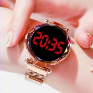 Дамски часовник Fashion Digital Led, Розов Q521-V1