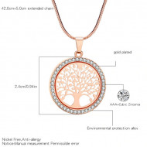 Дамско колие Tree of Life - златист цвят COL144