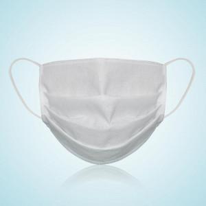 Многократна маска за защита на лицето, 100% памук, бял цвят, произведена в Румъния