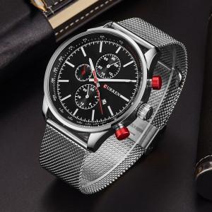 Мъжки часовник CR8227-Сребрист/Черен