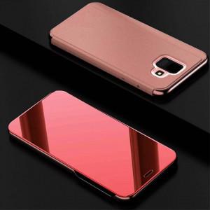 Samsung Galaxy J6 (2018) – Огледален калъф Book Cover Clear View розов