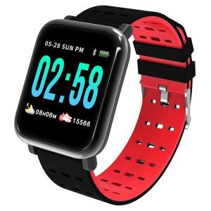 A6 Red - Smart Watch Sport Fitness Tracker