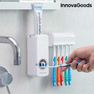 Dozator de pastă de dinți cu suport pentru periuțe InnovaGoods Home Houseware