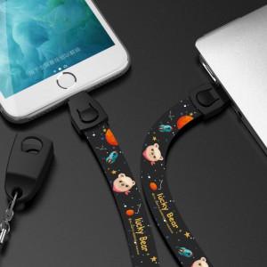 Кабел за зареждане или прехвърляне на данни iPhone Lucky Bear 86 см.